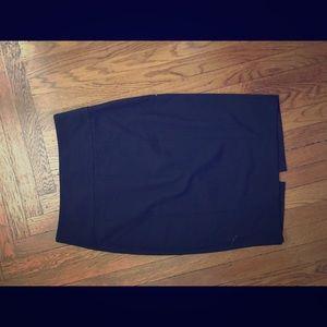 Zara Basic black pencil skirt for work